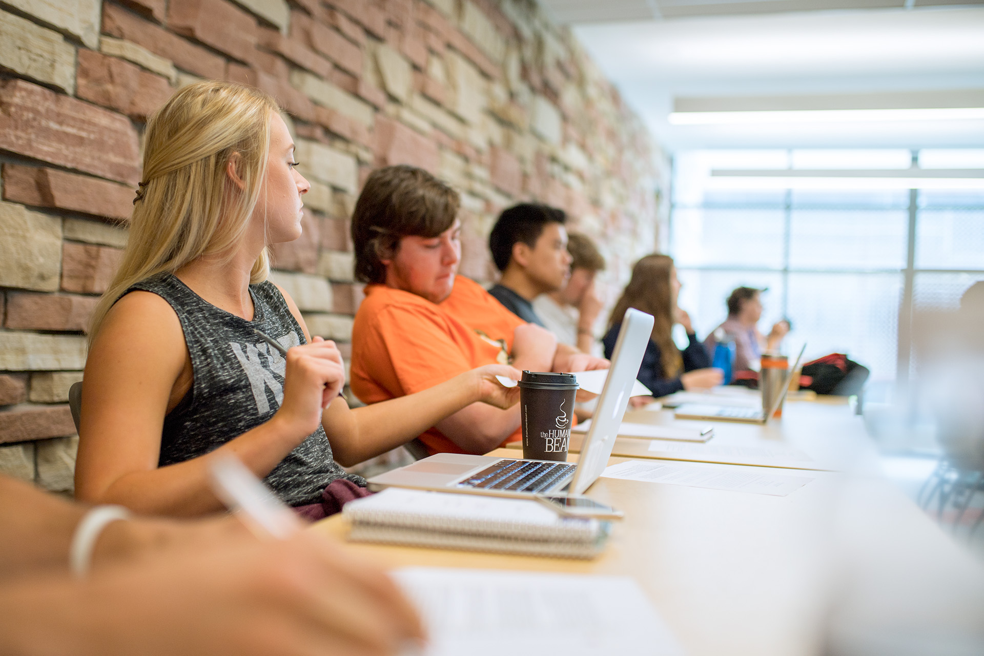 students in class in eddy hall