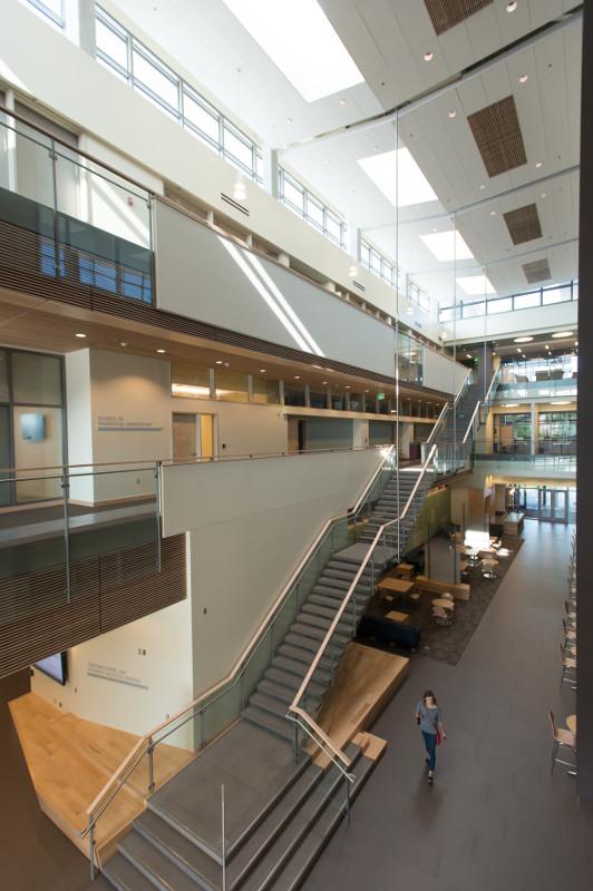 bioengineering atrium from second floor