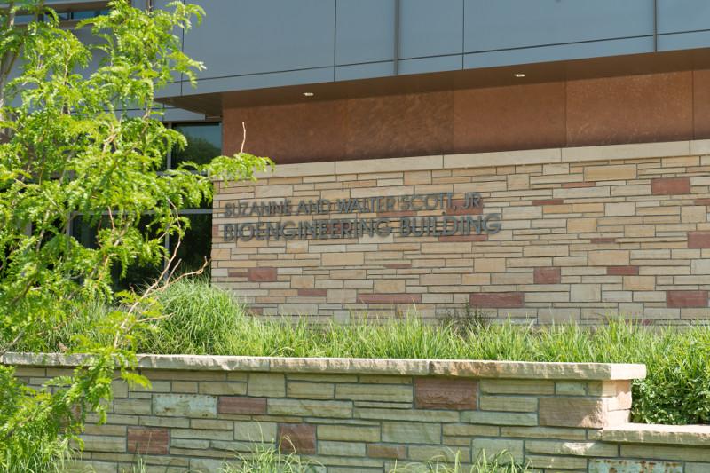 bioengineering building entrance sign