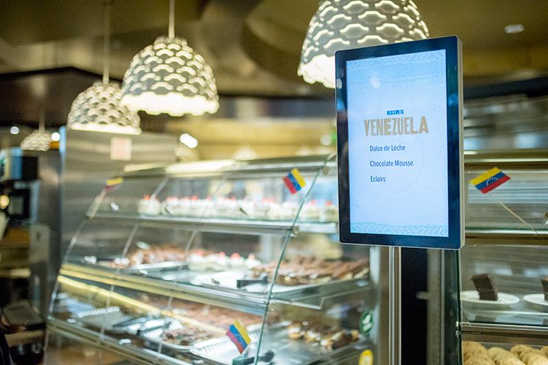 dessert menu in the durrell center