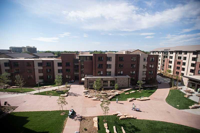 aggie village courtyard