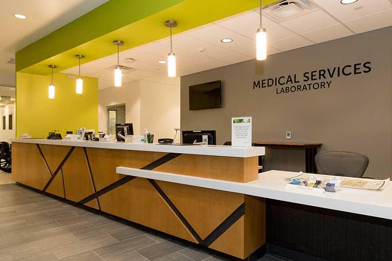 medical services laboratory front desk