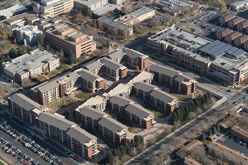 aggie village aerial view