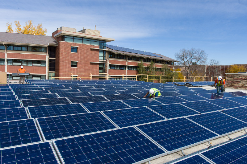 braiden hall solar panel array