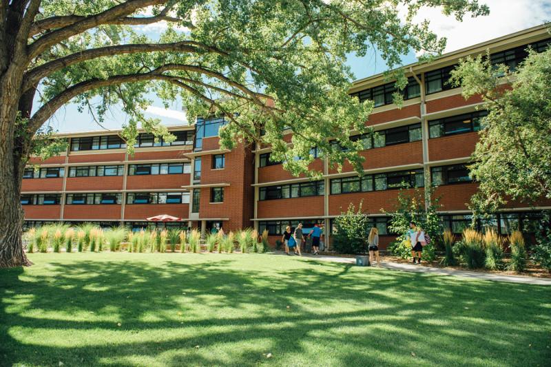 side of braiden hall courtyard