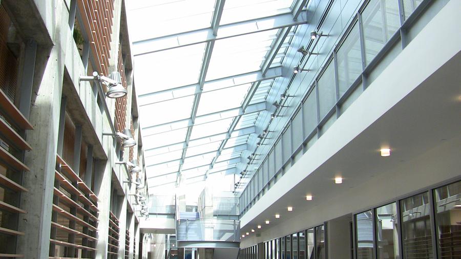 diagnostic medicine center glass ceiling