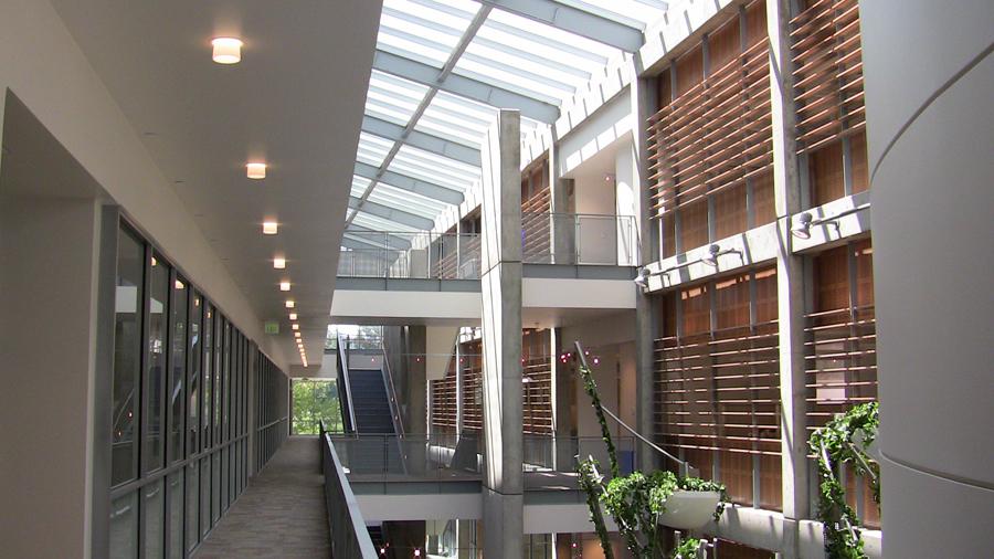 diagnostic medicine center foyer from second floor