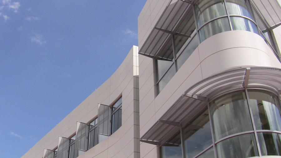 diagnostic medicine center side of building