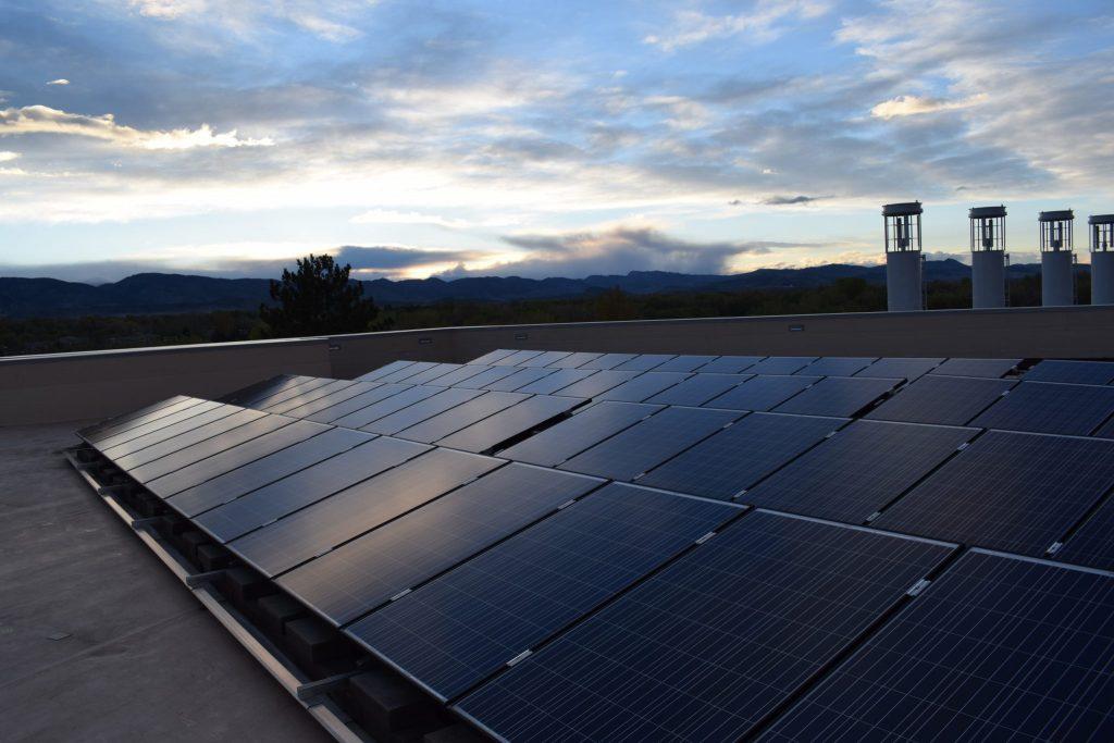 solar panels on powerhouse roof