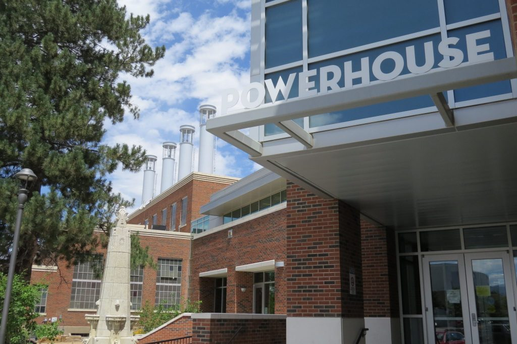 front of powerhouse