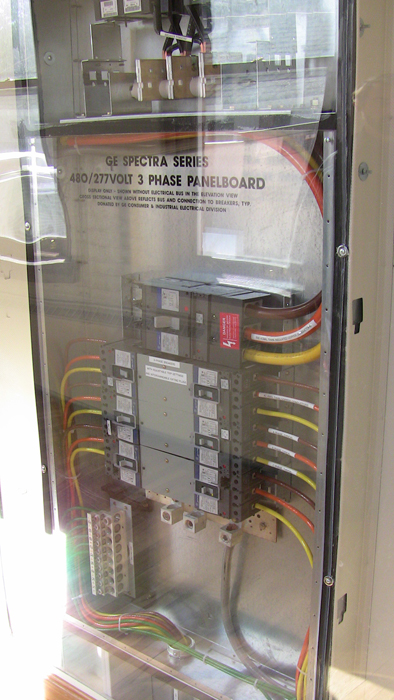 preconstruction centre display of panelboard