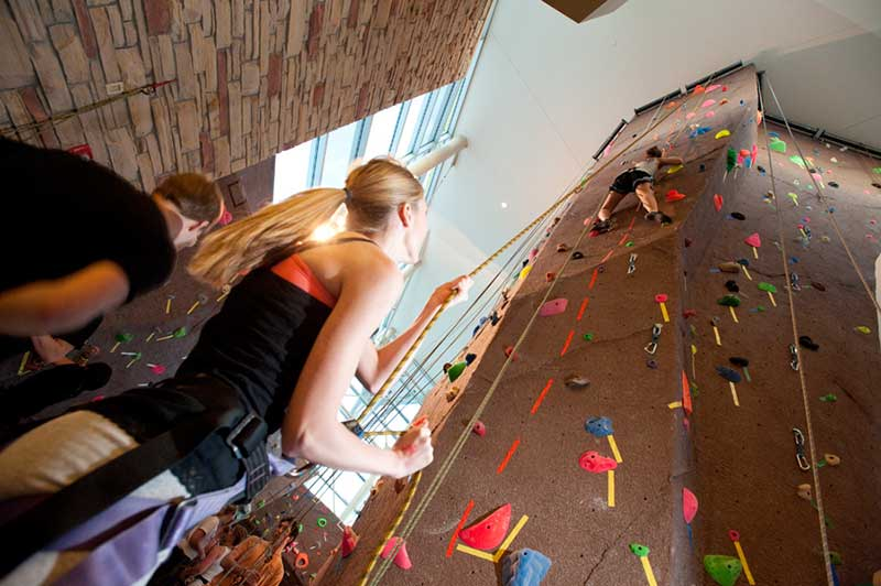 rec center climbing wall