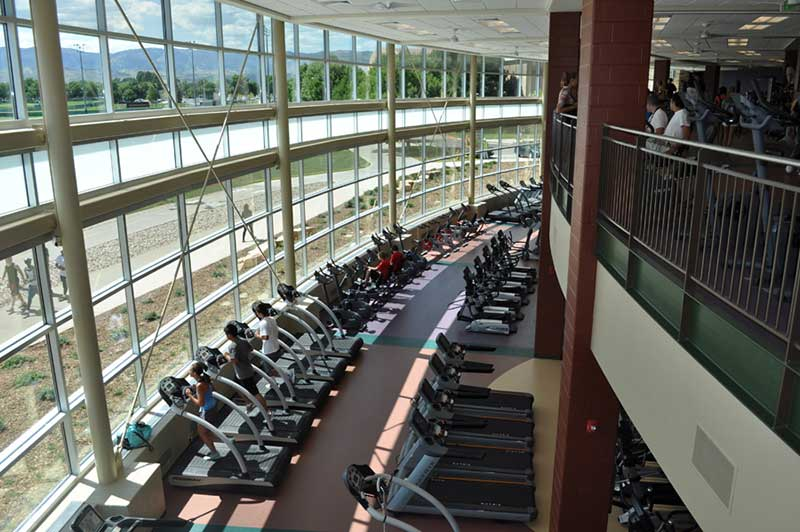 rec center treadmills and elipticals
