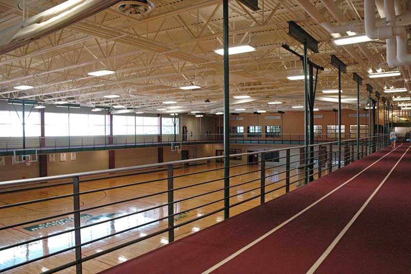rec center track and basketball courts