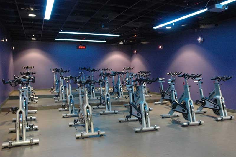 rec center exercise bike classroom