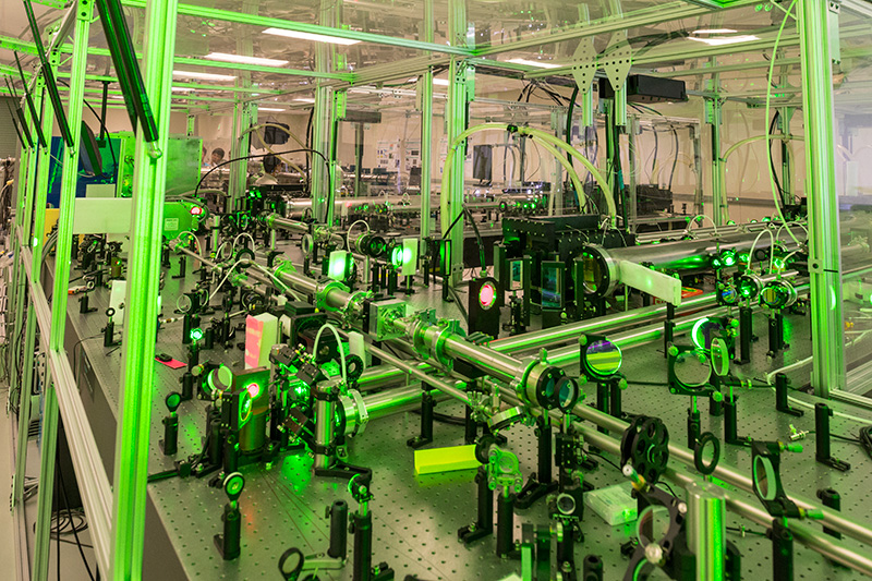 A research project using compact lasers to produce micro-scale nuclear fusion in the advanced beam lab at csu