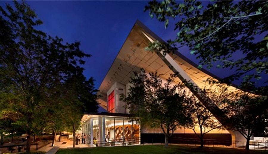 Lory Student Center Theatre Exterior at Night