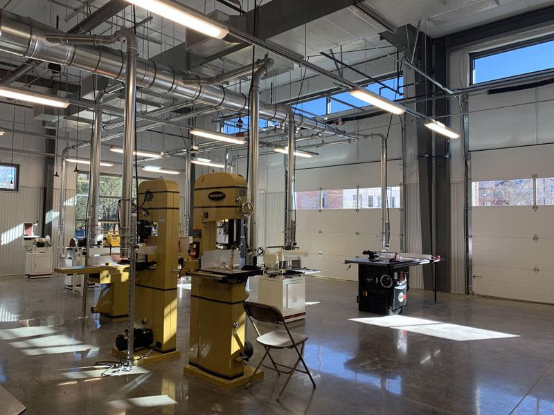 Nancy Richardson Design Center manufacturing area