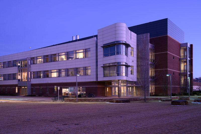 C. Wayne McIlwraith Translational Medicine Institute exterior at dusk