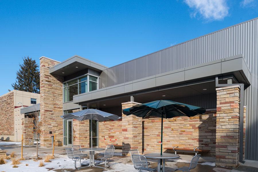 JBS Global Food Innovation Center patio