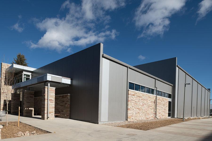 JBS Global Food Innovation Center side of building
