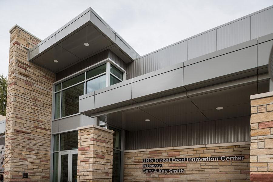 JBS Global Food Innovation Center front of building