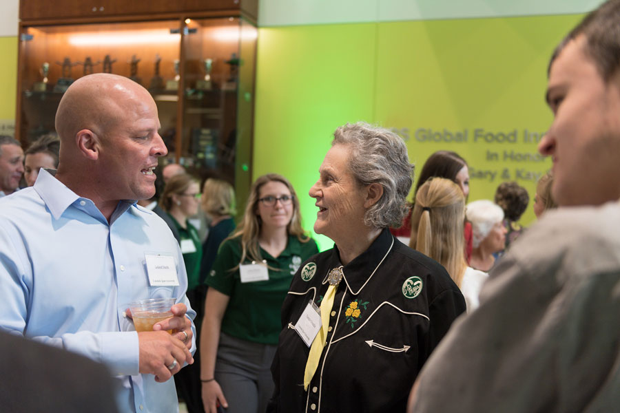 JBS Global Food Innovation Center grand opening with Temple Grandin and guests